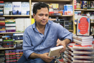 Vikram Chandra revealing his new book at Crossroads Mumbai. Photo Credits - Nayan Shah (25)